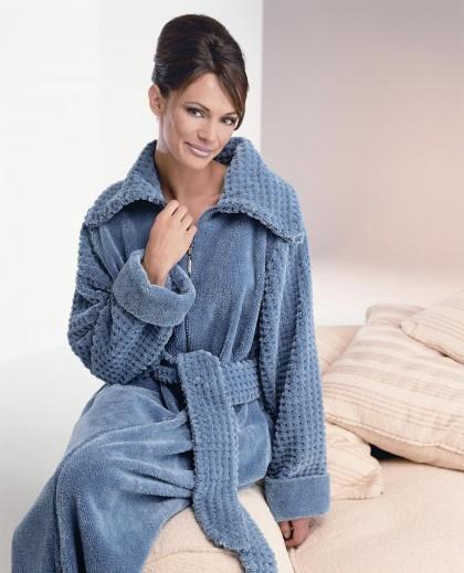 Fluffy Cotton Chenille Zip Robe