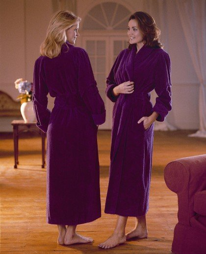 Luxury Cotton Chenille Robe With Scrolls